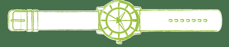 dessin montre verte